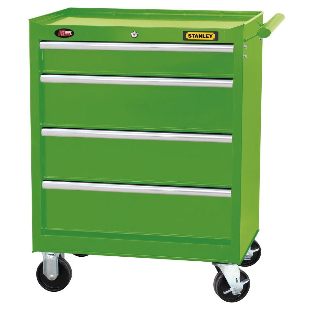 Stanley 27 in. 4-Drawer Tool Cabinet in Wide Lime Green