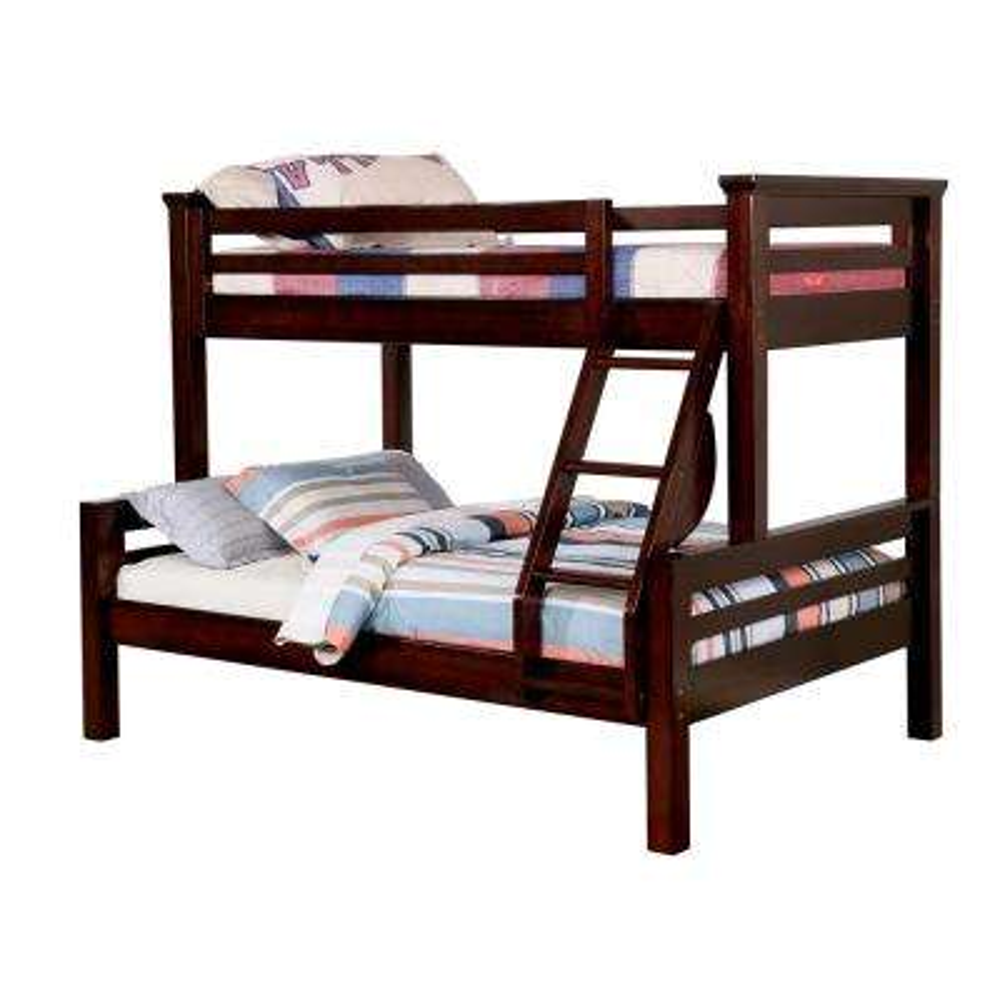 Marcie Twin/Full Bunk Bed in Dark Walnut