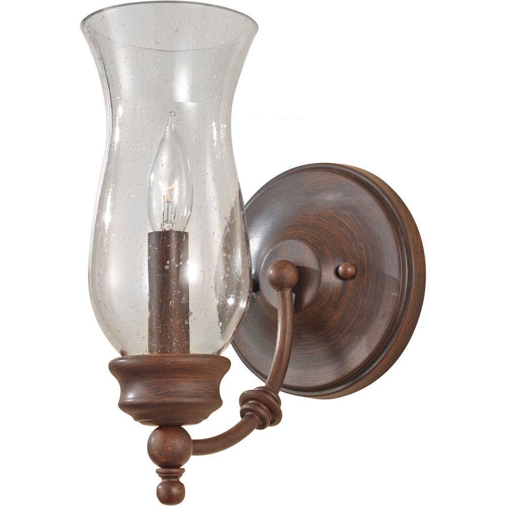 Pickering Lane 1-Light Heritage Bronze Vanity Light