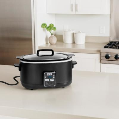 Ninja-6 Qt. Black Slow Cooker with Touchpad Controls and Keep Warm Setting