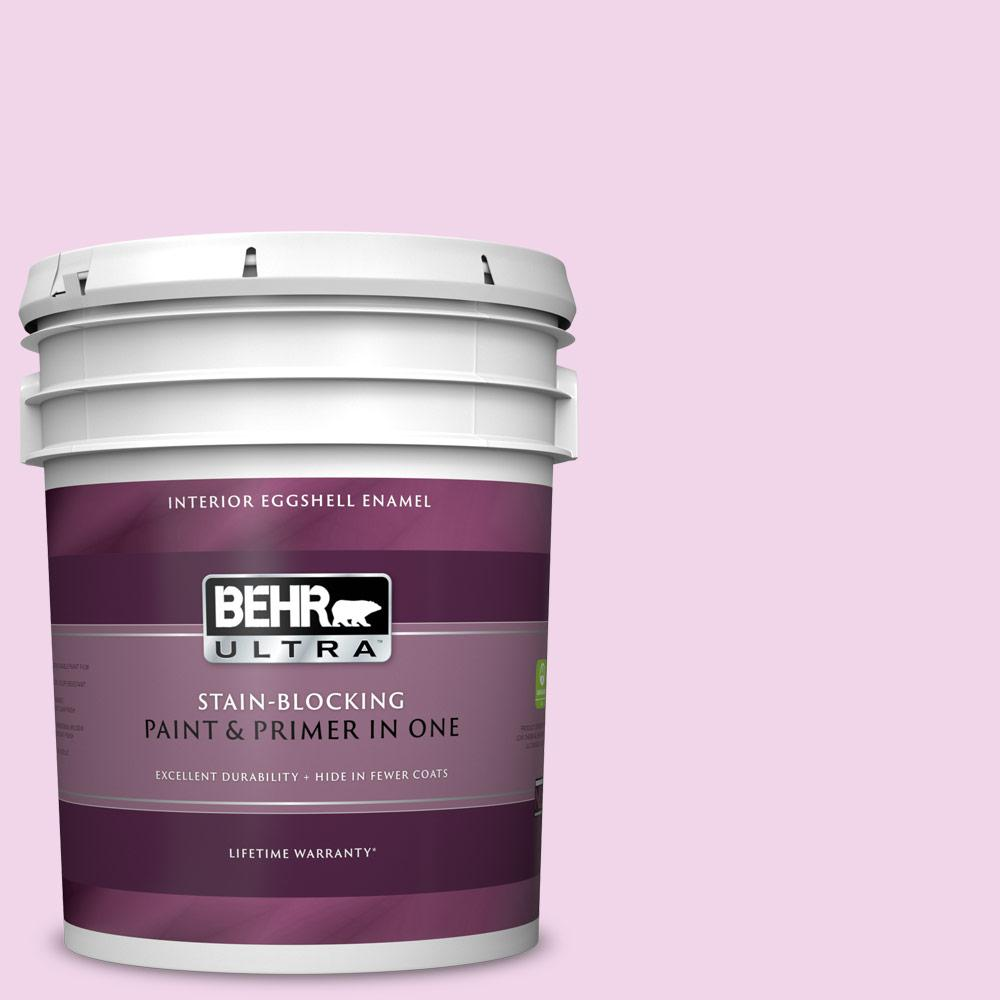 Behr Ultra 5 Gal 680a 1 Candy Tuft Eggshell Enamel Interior Paint And Primer In One 275005 The Home Depot