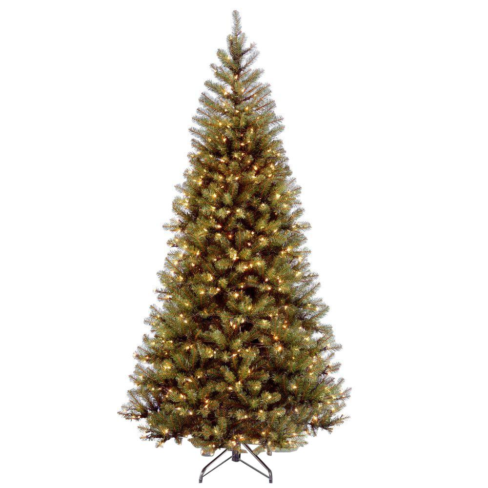 7 Foot Lighted Christmas Tree: National Tree Company 7 Ft. Aspen Spruce Hinged Artificial