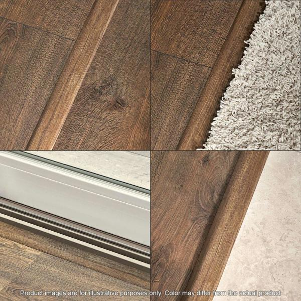 Pergo Golden Rustic Oak 3 4 In Thick X 2 1 8 In Wide X 78 3 4 In Length Laminate 4 In 1 Molding Mg001808 The Home Depot