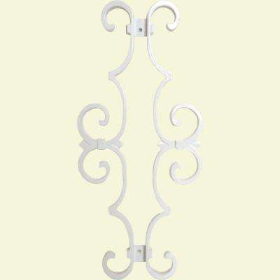 New England Classic 17 in. x 7-5/8 in. Aluminum White Baluster Centerpiece