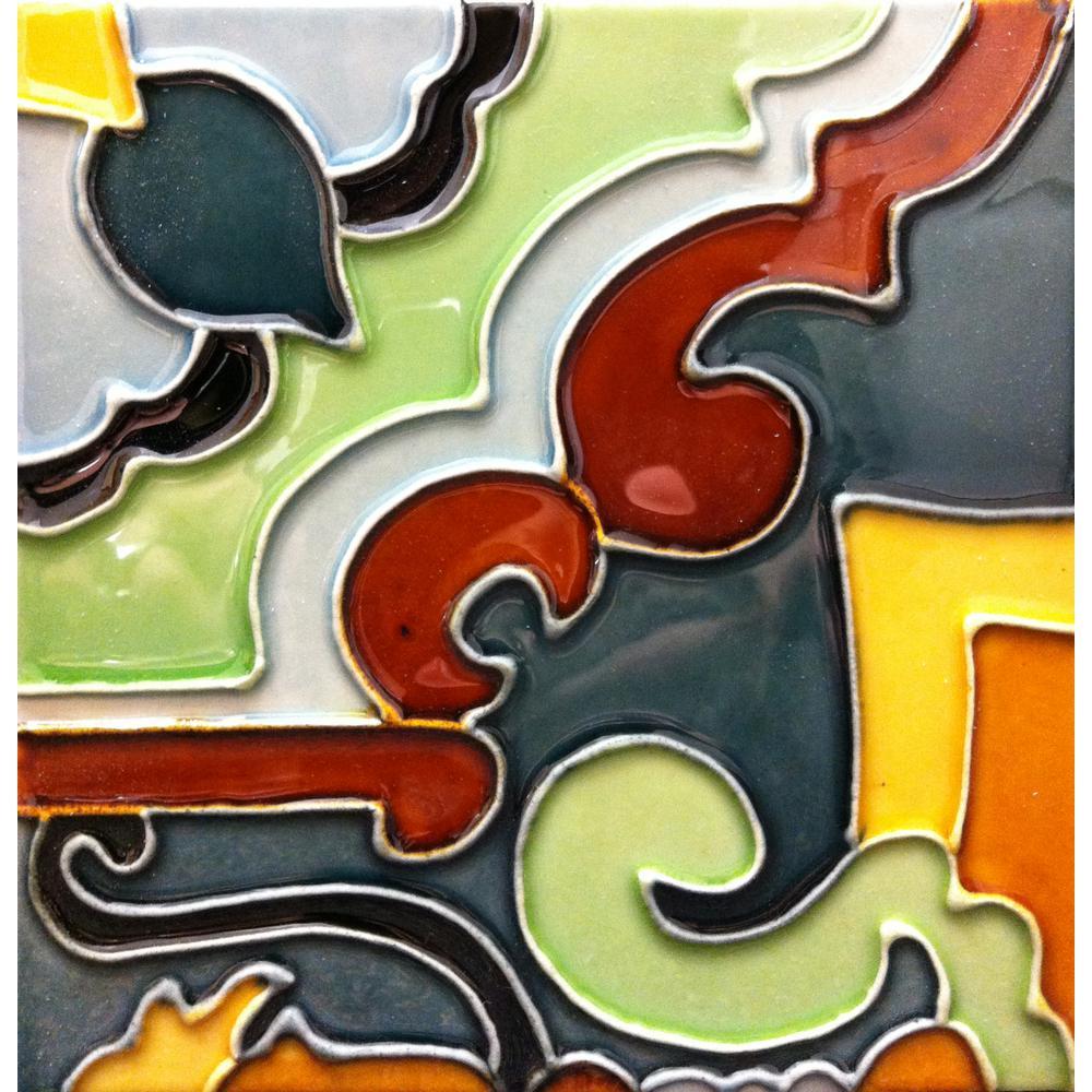Hand-Painted Ceramic Celino 6 in. x 6 in. x 6.35 mm Glazed Ceramic Wall Tile (2.5 sq. ft. / case)