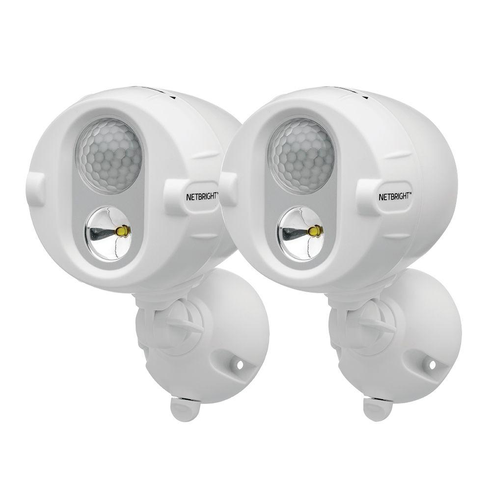 Mr Beams Networked Wireless Motion Sensing Outdoor Led Spot Light System With Netbright Technology 200 Lumens 2 Pack