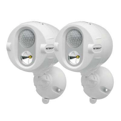 Networked Wireless Motion Sensing Outdoor LED Spot Light System with NetBright Technology, 200-Lumens (2-Pack)