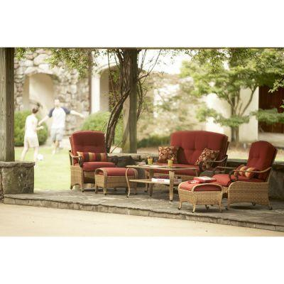 Martha Stewart Living Belle Isle Wicker Collection 6-Piece Seating Patio Set-DISCONTINUED