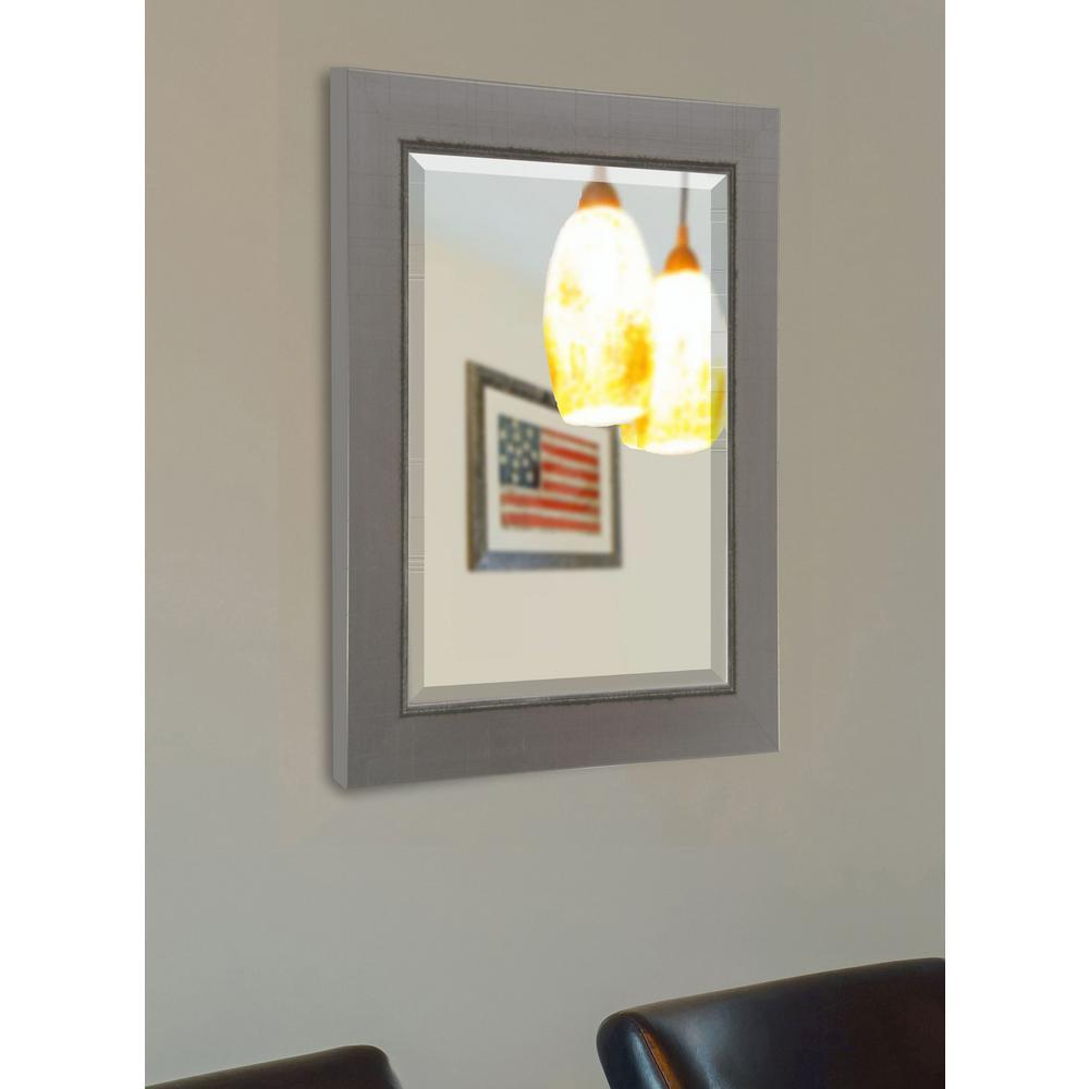35 in. x 41 in. Silver Swift Vanity Wall Mirror