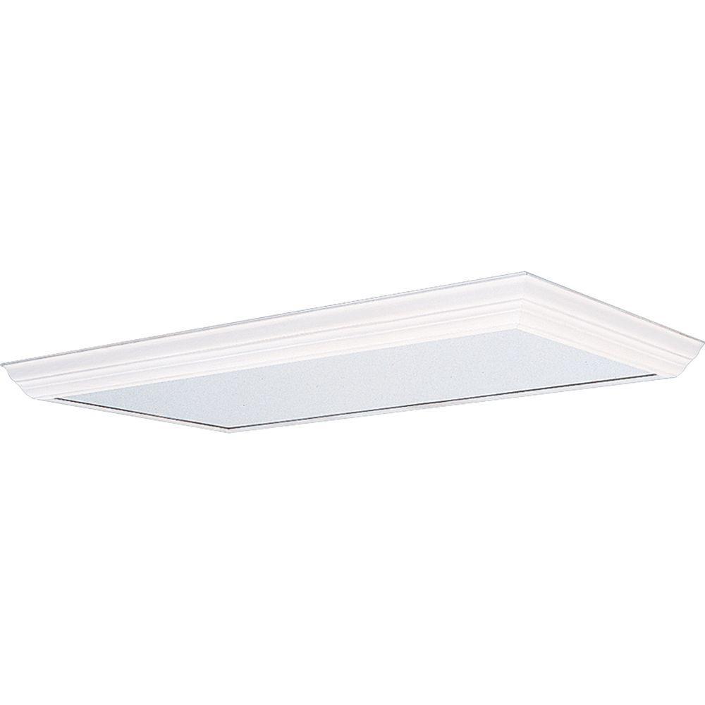 White Fluorescent Fixture Diffuser