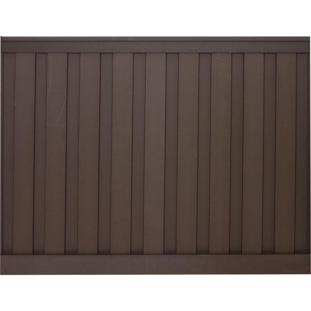 Seclusions 6 ft. x 8 ft. Woodland Brown Wood-Plastic Composite Board-On-Board