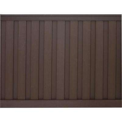 Seclusions 6 ft. x 8 ft. Woodland Brown Wood-Plastic Composite Board-On-Board Privacy Fence Panel Kit