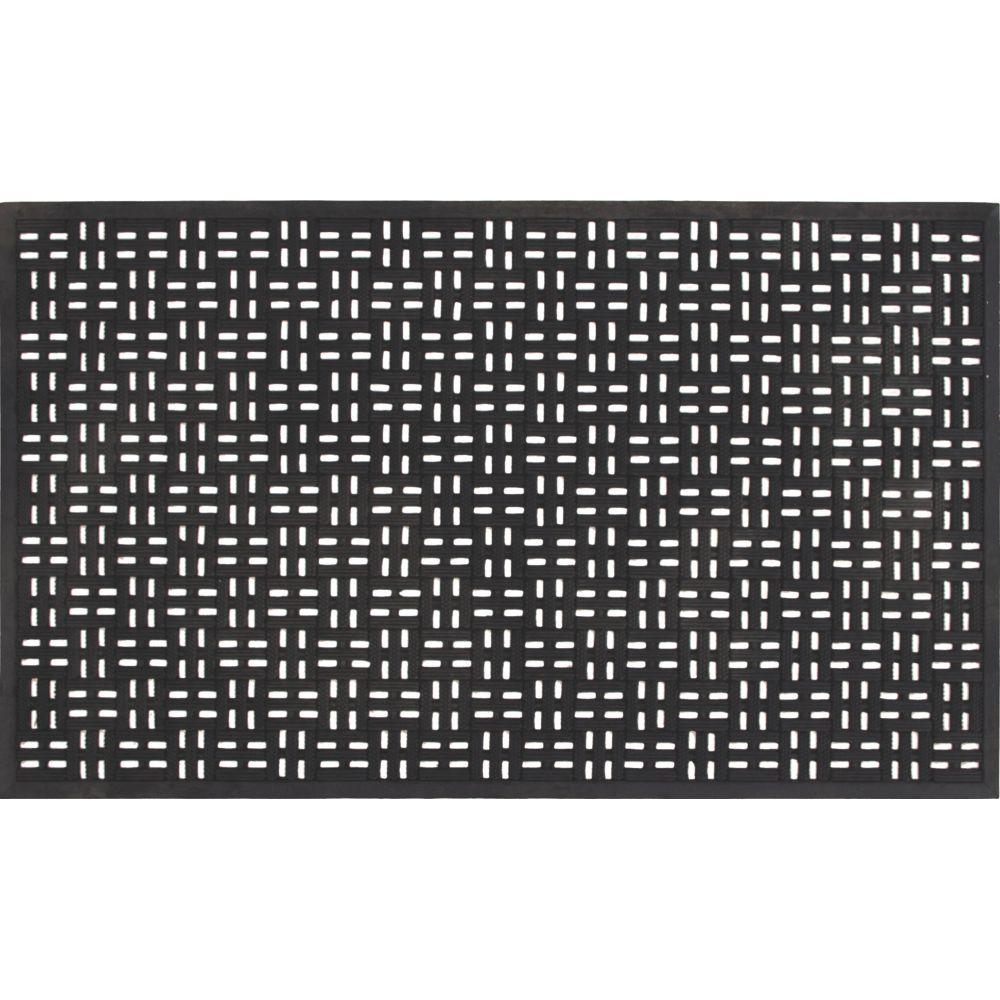 Merveilleux TrafficMASTER Black 22 In. X 36 In. Rubber Door Mat