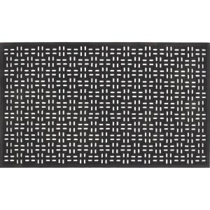 Trafficmaster Black 22 In X 36 In Rubber Door Mat 39 392