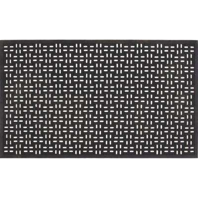 Black 22 in. x 36 in. Rubber Door Mat