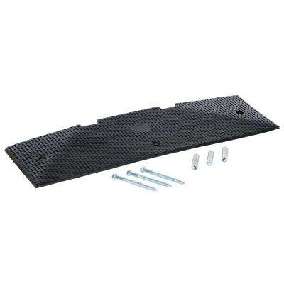 35.25 in. x 2.4375 in. x 10.4375 in. Black Rubber Female End Cap with Concrete Kit for 120 in. Speed Bump