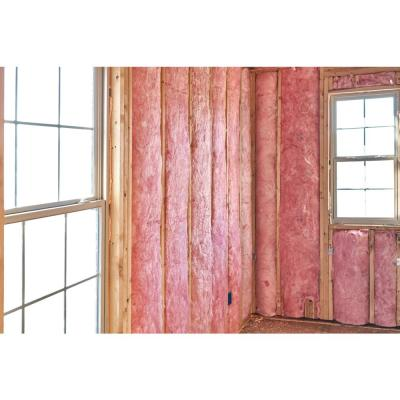 R-15 EcoTouch PINK Unfaced Fiberglass Insulation Batt 23 in. x 93 in. (8-Bags)