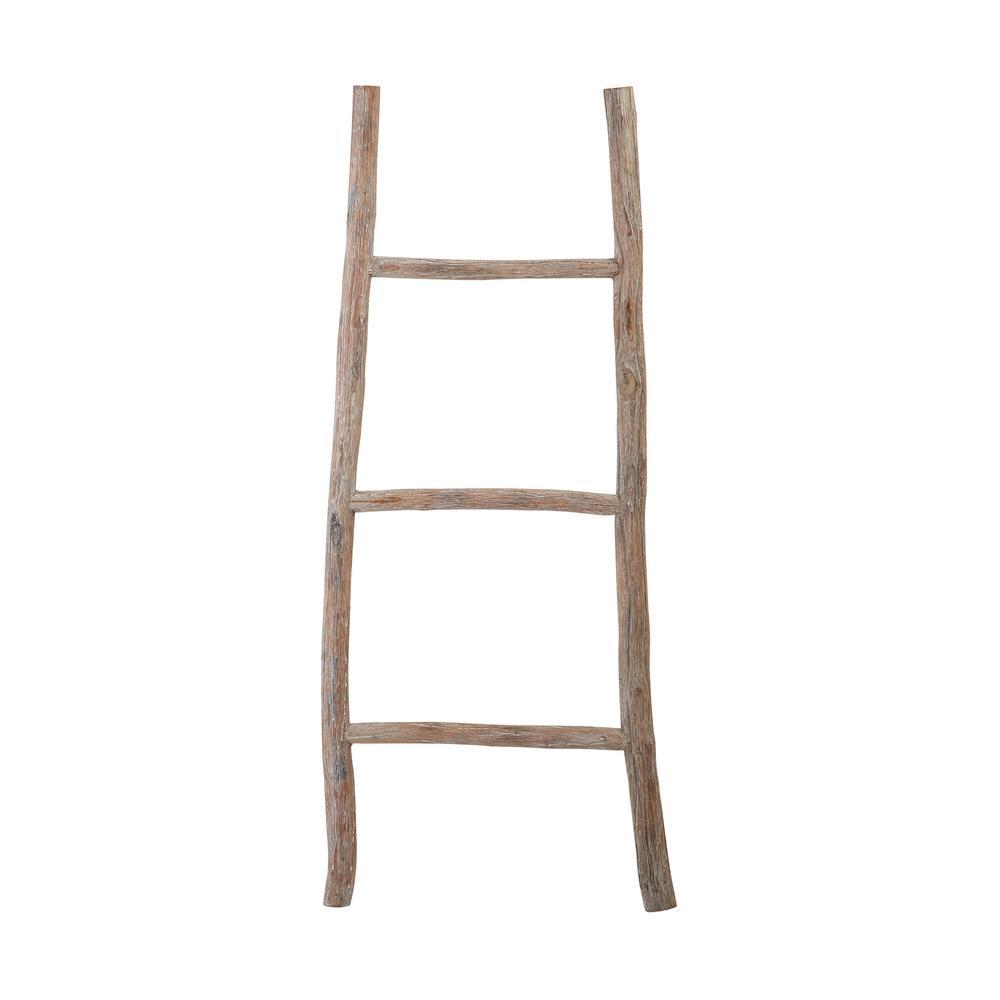 White Washed Wood Decorative Ladder