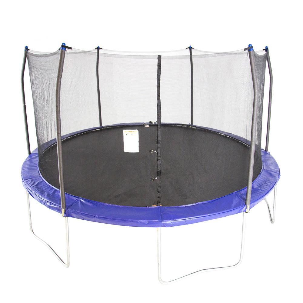 Skywalker Trampolines 15 ft. Round Trampoline with Enclosure in Blue