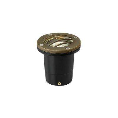 2-Watt Matte Bronze LED Hardy Island 3000K Warm Well Light
