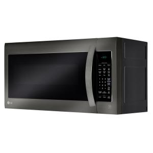 LG Electronics 2 0 cu  ft  Over the Range Microwave in Black Stainless  Steel with Sensor Cook