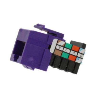 QuickPort 8P8C Voice Grade Connector, Purple