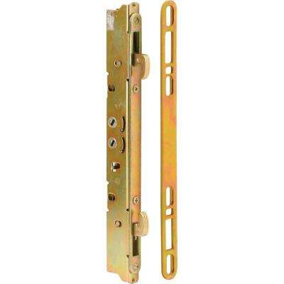 9-7/8 in. Multi-Point Door Lock and Keeper with 45° Keyway for Sliding Patio Doors, Steel