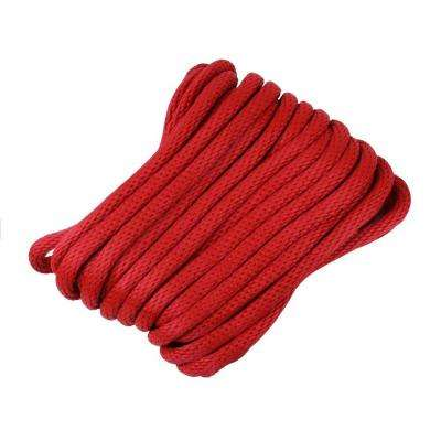 1/2 in. x 50 ft. Polypropylene Solid Braid Rope, Red