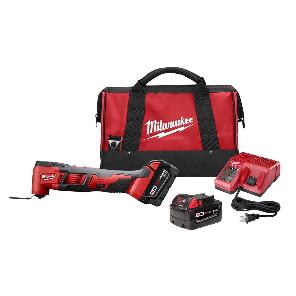 Milwaukee M18 18-Volt Lithium-Ion Cordless Oscillating Multi-Tool Kit w/