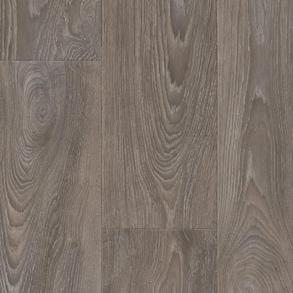 Trafficmaster scorched walnut grey 12 ft wide x your for Wood linoleum