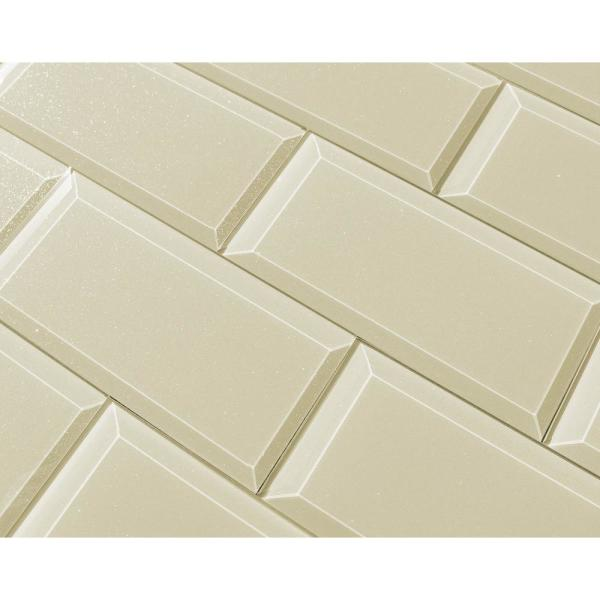 Abolos Subway 3 Quot X 6 Quot Rectangle Beige Taupe Beveled Glossy