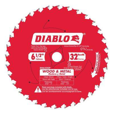 6-1/2 in. x 32-Teeth Wood and Metal Saw Blade