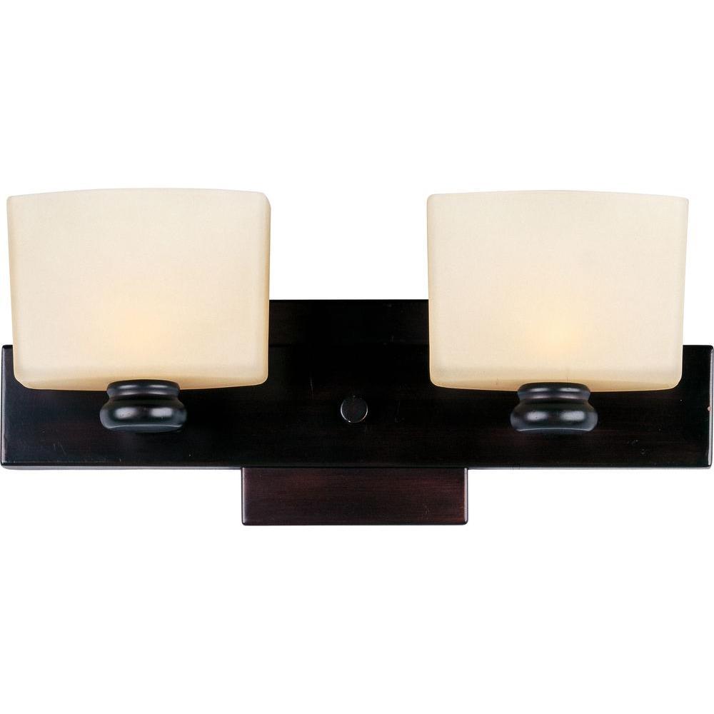 Essence 2-Light Oil-Rubbed Bronze Bath Vanity Light