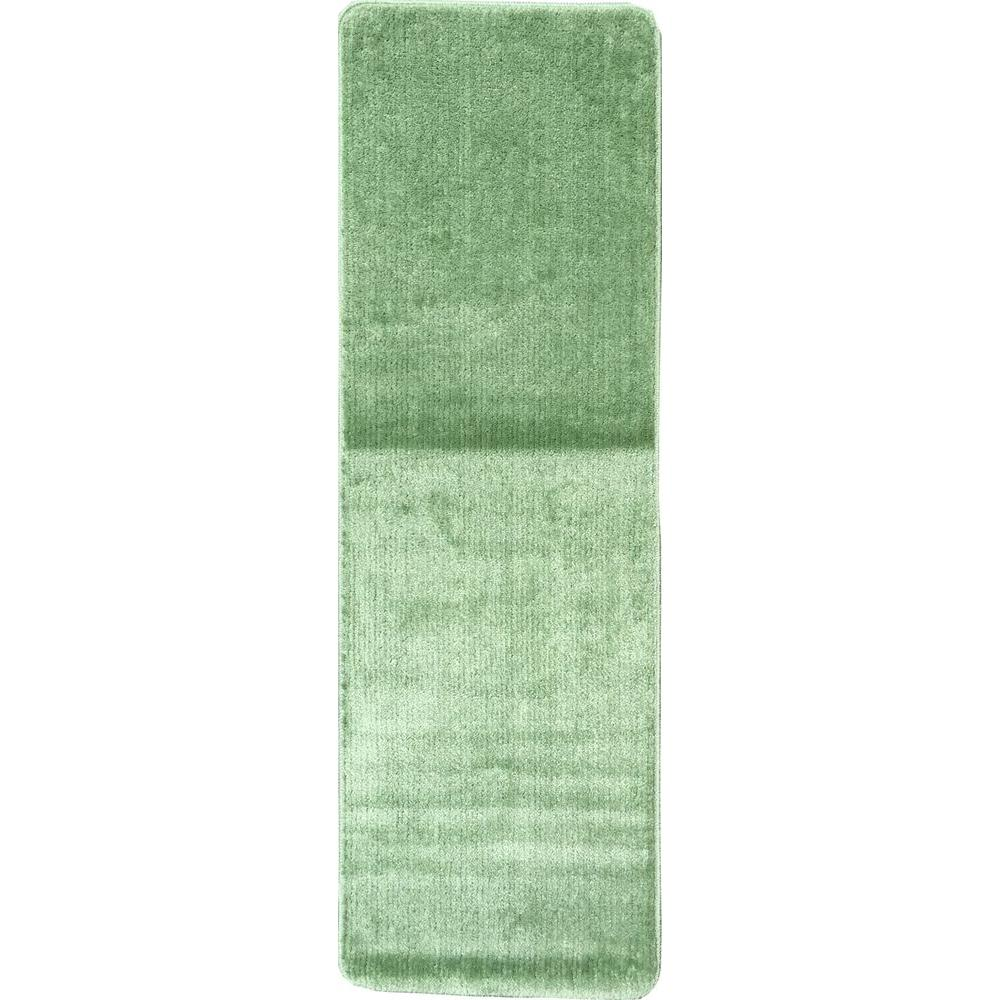 Ottomanson Solid Design Sea Green 1 Ft 8 In X 4 11