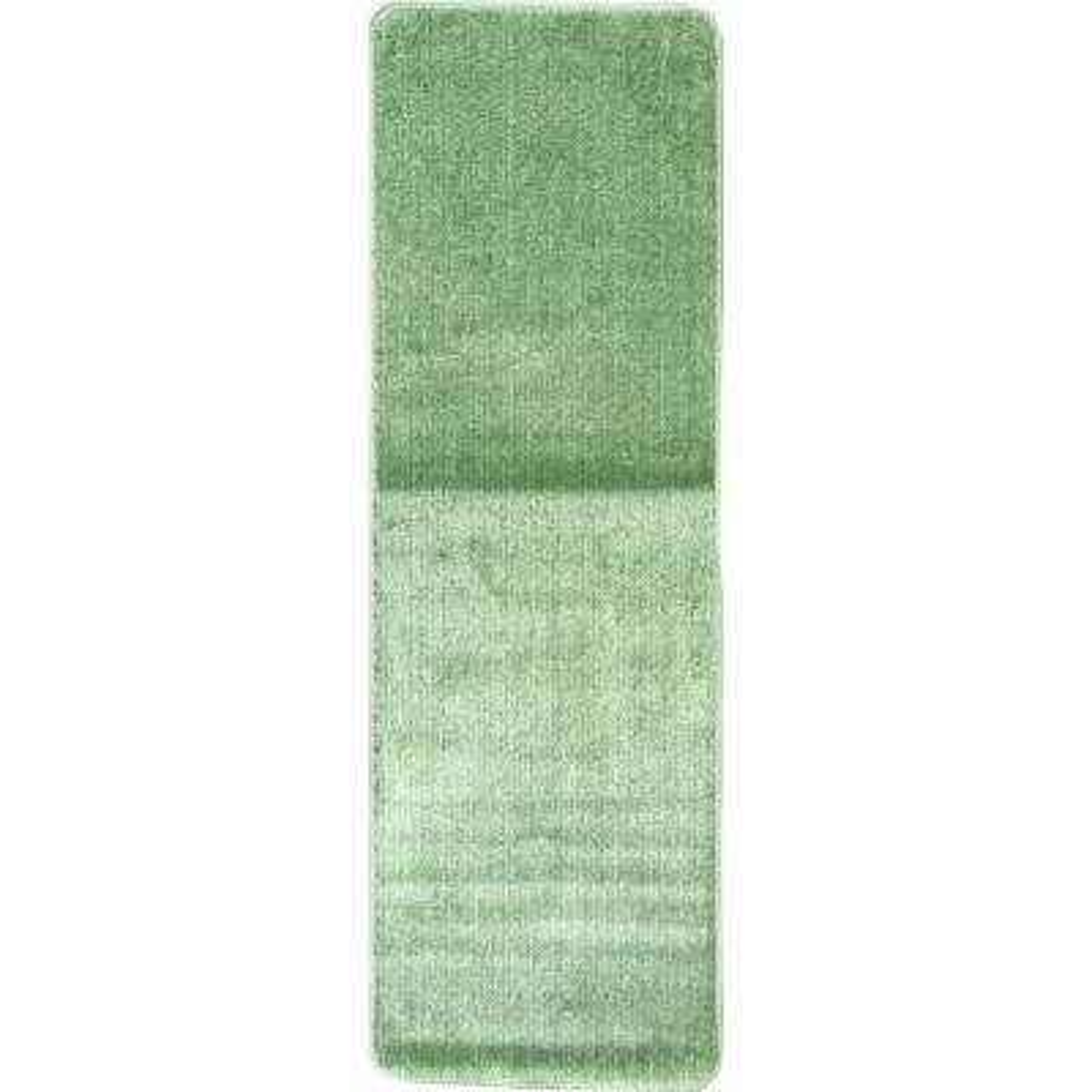 Solid Design Sea Green 1 ft. 8 in. x 4 ft. 11 in. Non-Slip Bathroom Rug Runner