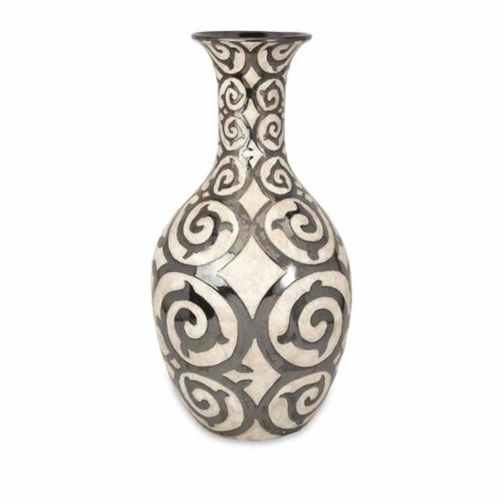 Imax Benigna Beige Tall Oversized Floor Vase 89684 The Home Depot
