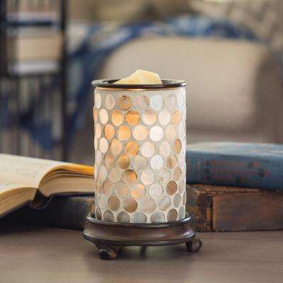 8.8 in. Pearl Glass Illumination Fragrance Warmer