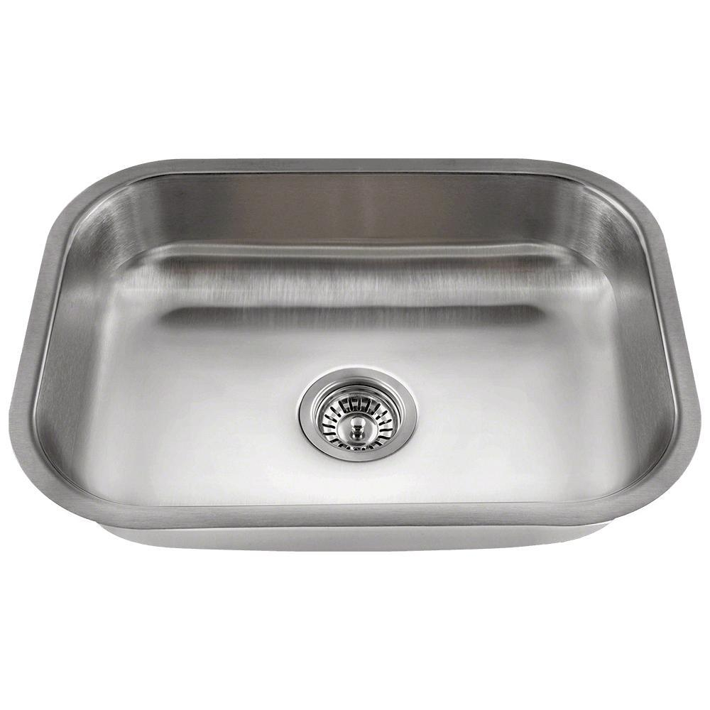 Mr Direct Undermount Stainless Steel 17 75 In Single Bowl