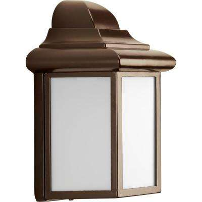 Milford Collection 1-Light 8.75 in. Outdoor Antique Bronze Wall Lantern Sconce