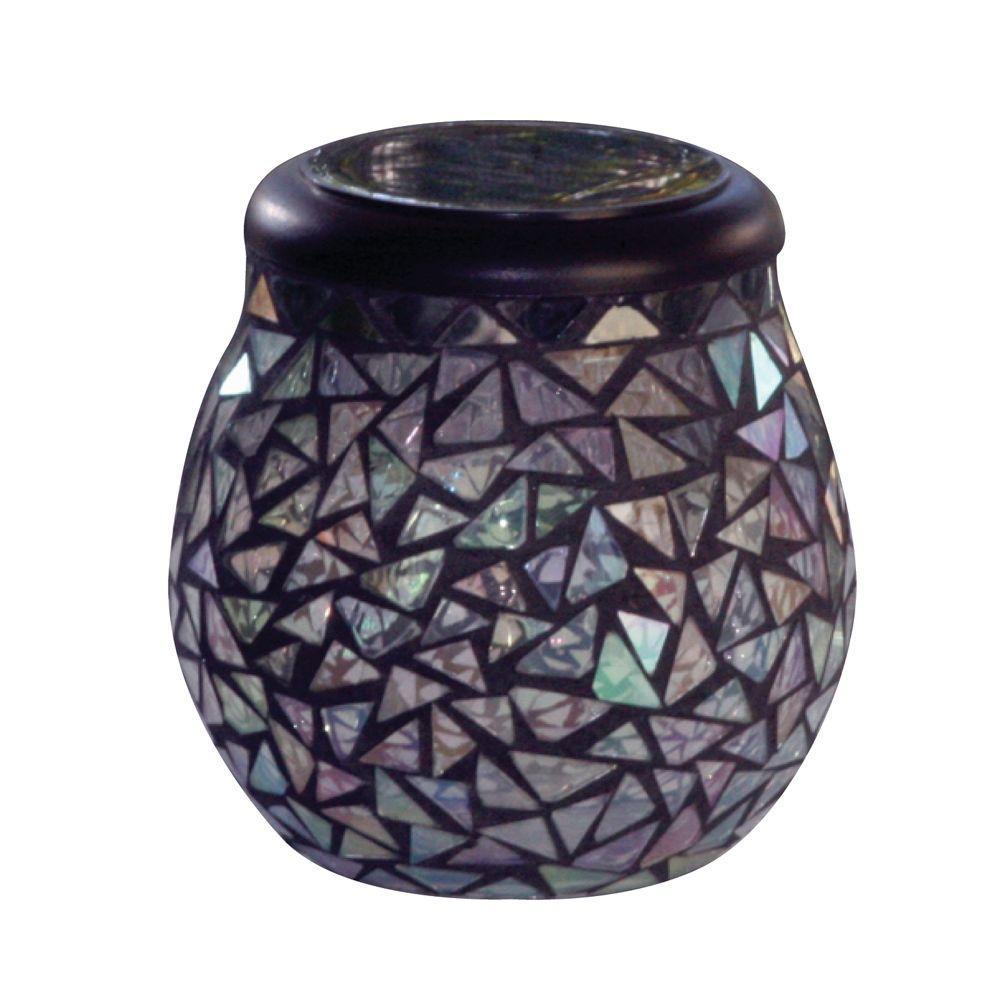 Smart Solar Obsidian Black Glass Mosaic Mirror Solar T-Light-DISCONTINUED