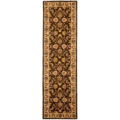 Heritage Brown/Ivory 2 ft. x 22 ft. Runner Rug