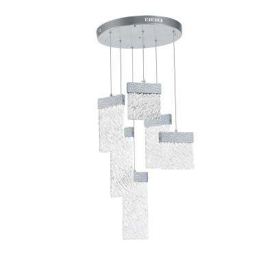 Carolina 50-Watt Integrated LED Pewter Chandelier