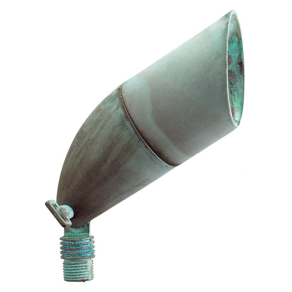 1-Light Verde Green Die-Cast Brass Up Light