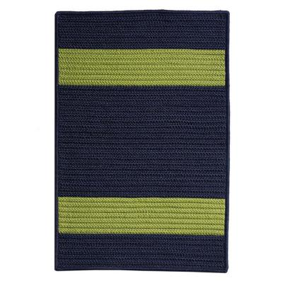 Cafe Milano Navy/Green 7 ft. x 7 ft. Braided Indoor/Outdoor Area Rug