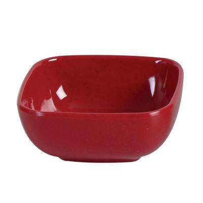 Jazz 5 oz., 3-1/2 in. x 3-1/2 in. Round Square Bowl, 1-1/2 in. Deep in Red (1-Piece)