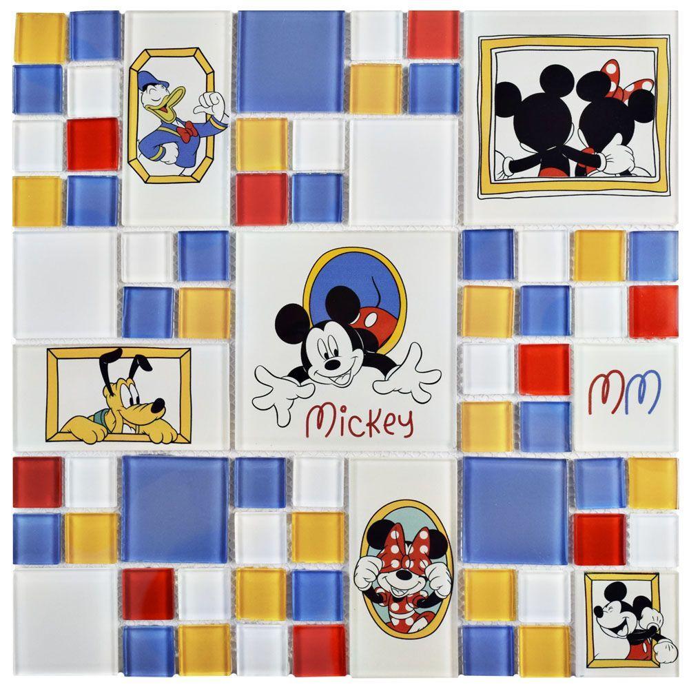 Classic Multi 11-3/4 in. x 11-3/4 in. x 5 mm Glass Mosaic Tile
