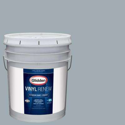 5 gal. #HDGCN33 Winter Sky Grey Low-Lustre Exterior Paint with Primer