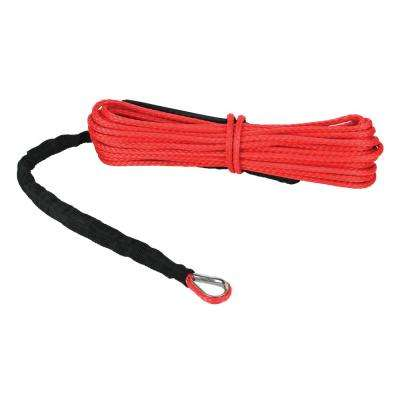 Devil's Hair in Synthetic ATV/UTV Winch Rope in Red