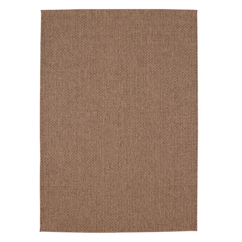 Texture Brown 8 ft. x 10 ft. Indoor Area Rug