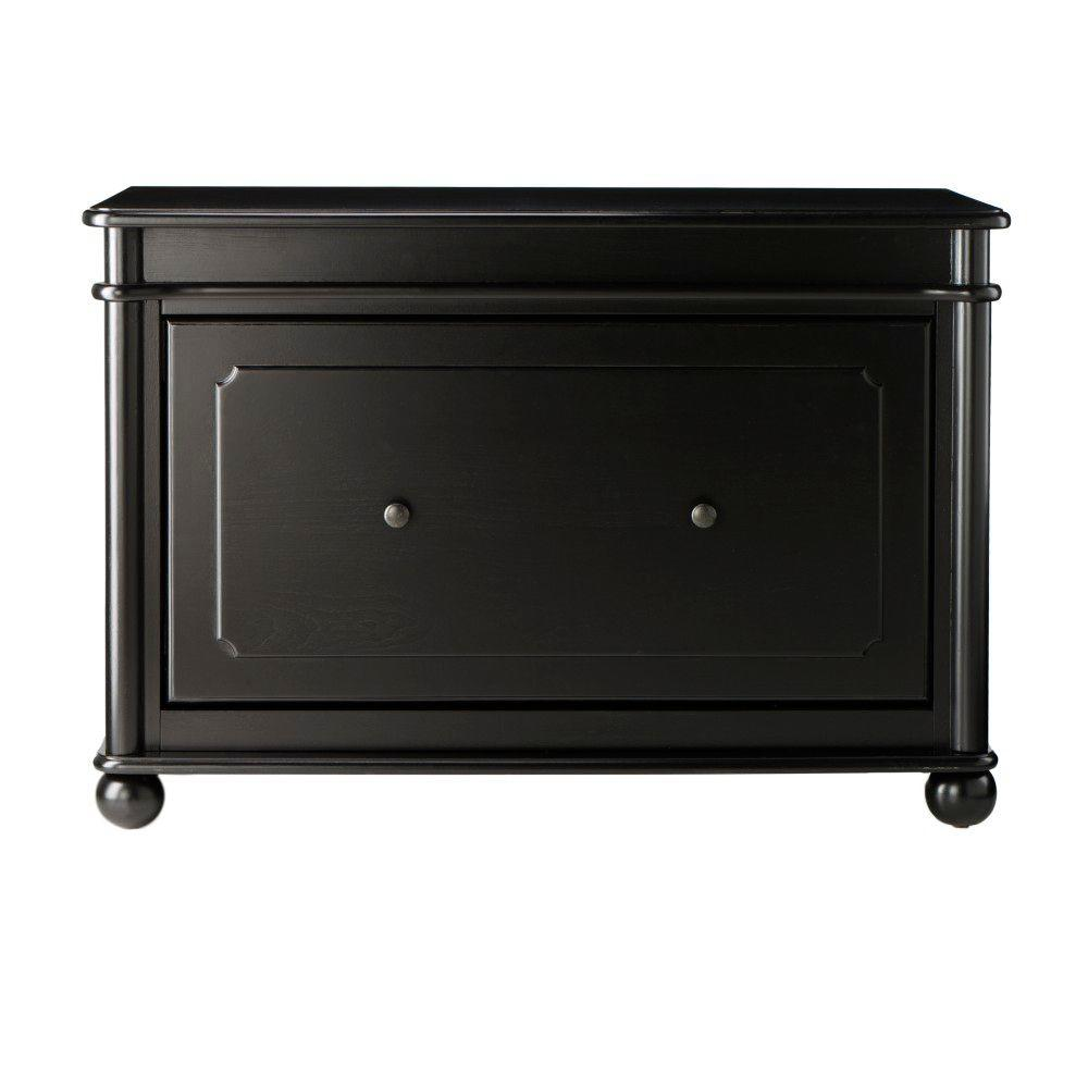 Home Decorators Collection Essex 23 in. H Suffolk Black Shoe Cabinet